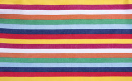 Multicolored striped fabric. Stock Photography