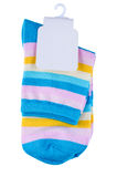 Multicolored striped socks Royalty Free Stock Photography