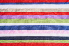 Multicolored stripes fabric Royalty Free Stock Photography