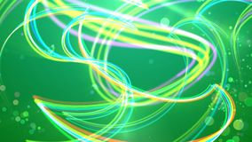 Multicolored stripes in the green background stock illustration