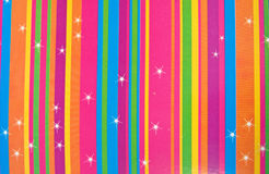 Multicolored stripes with stars . Stock Photography