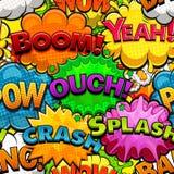 Multicolored strippaginatoespraak borrelt naadloos vector illustratie