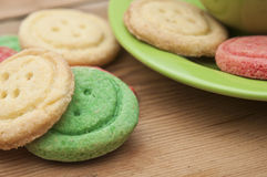 Multicolored sugar cookies Royalty Free Stock Image