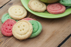 Multicolored sugar cookies Royalty Free Stock Photo