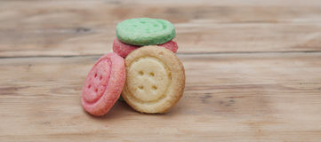 Multicolored sugar cookies Stock Images