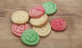 Multicolored sugar cookies Stock Photography