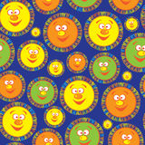 Multicolored sun of seamless pattern Royalty Free Stock Photo