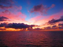 Multicolored Sunset at the Horizon stock images