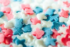 Multicolored candy on a white background royalty free stock photos