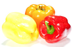 Multicolored sweet peppers Royalty Free Stock Photo