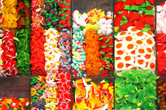 Multicolored sweets background Stock Photos