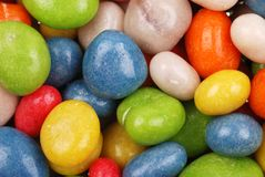 Multicolored sweets covered with glaze Stock Photo
