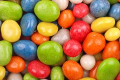 Multicolored sweets covered with glaze Stock Images