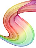 Multicolored swirl. High quality rendered abstraction Royalty Free Stock Image