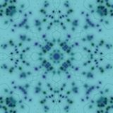 Symmetrical blue and green sparkles and hand drawn ornaments on a pastel sky blue background, kaleidoscope style illustration. Multicolored  symmetrical royalty free illustration