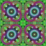 Multicolored symmetrical grid fractal pattern. Computer generate Stock Photography
