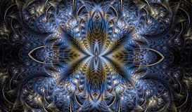 Multicolored symmetrisch fractal patroon als bloem Royalty-vrije Stock Foto
