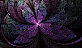 Multicolored symmetrische Vlinder in gebrandschilderd glasstijl stock illustratie