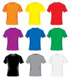 Multicolored T-shirts. Multicolored samples for T-shirt design royalty free illustration