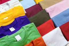 Multicolored t-shirts. Stock Image