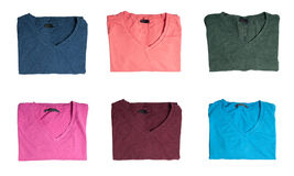 Multicolored t-shirts Stock Images