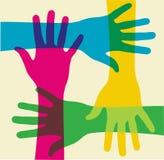 Multicolored teamwork Stock Photo