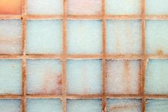 Multicolored tegelsachtergrond Stock Fotografie