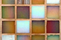 Multicolored tegelsachtergrond stock foto