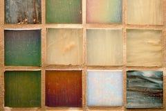 Multicolored tegelsachtergrond Royalty-vrije Stock Foto