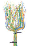 Multicolored telecommunication cables Royalty Free Stock Photos