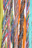 Multicolored telecommunication cables Royalty Free Stock Image