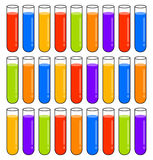 Multicolored test tubes Royalty Free Stock Images