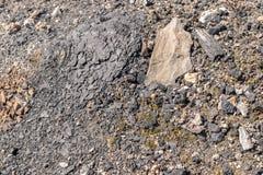 Multicolored Texture of Burnt Coal Slag Stones Royalty Free Stock Photo