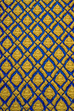 Multicolored Thai stucco on the wall. (in public Thai's temple Royalty Free Stock Image