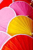 Multicolored Thai sunshade protect. Thailand Stock Photos