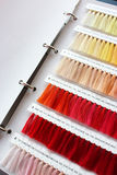 Multicolored  thread. Color chart for sewing thread Stock Photography
