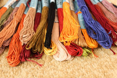 Multi-colored thread floss royalty free stock photos