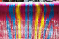 Multicolored Thread Weaving Loom Stock Photography