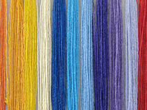 Multicolored threads stock image