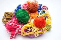 Multicolored threads Royalty Free Stock Image