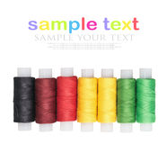 Multicolored threads isolated on a white Royalty Free Stock Images
