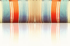 Multicolored threads with reflection as abstract background. Royalty Free Stock Photos