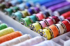 Multicolored threads Stock Photos