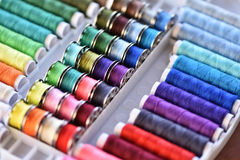 Multicolored threads Stock Photo