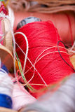 Multicolored threads for sewing Royalty Free Stock Images