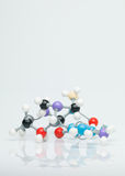 Multicolored three dimensional molecular model Royalty Free Stock Images