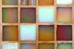 Multicolored tiles background Stock Photo
