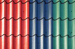 Multicolored tiles of the roof Royalty Free Stock Images