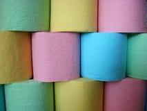 Multicolored toiletpapiervouwen royalty-vrije stock foto