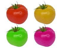 Multicolored tomatoes Stock Photos